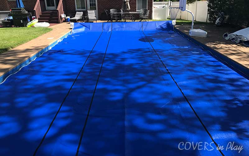 swimming pool cover extended