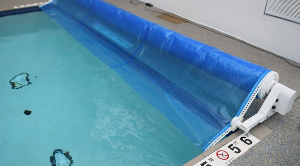 Automatic Pool Cover wound up 1024x567